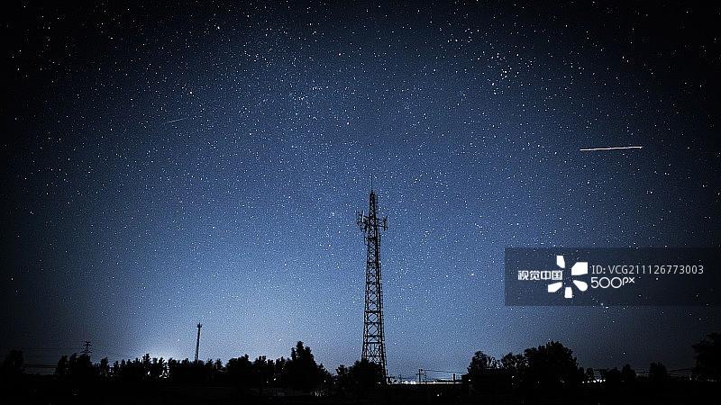 星形 风景 星空 照亮 星星