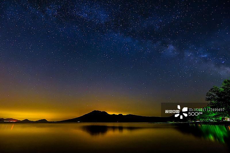 星系 银河系 星空 北海道