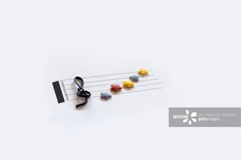 幻想 创造力 高音谱号 低音谱号 梦想 灵感 星形 概念 艺术文化和娱乐