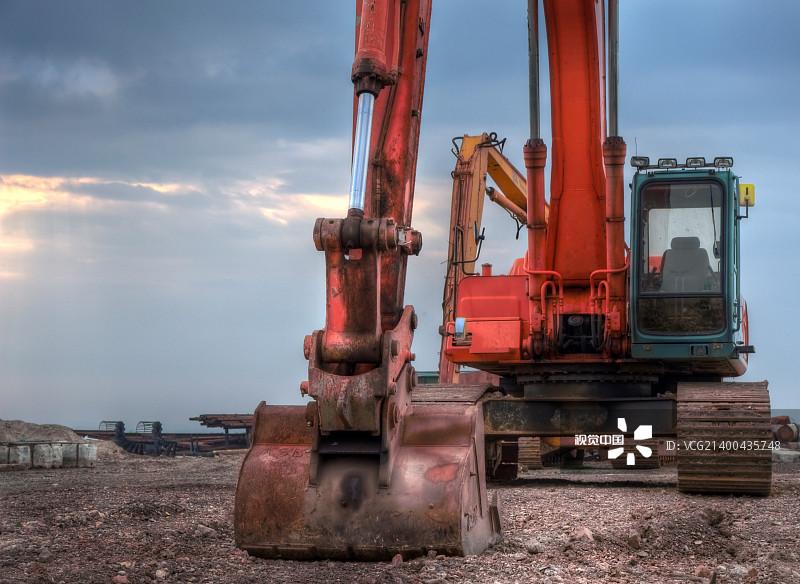 造 制造机器 铲车 工作 挖掘 地球形 工业 农业机器 工程师 轮胎印 叉车