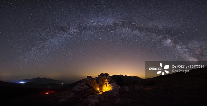 天空 无人 星空 银河系 城市天际线 灵山 非凡的 著名景点 宏伟 门头沟