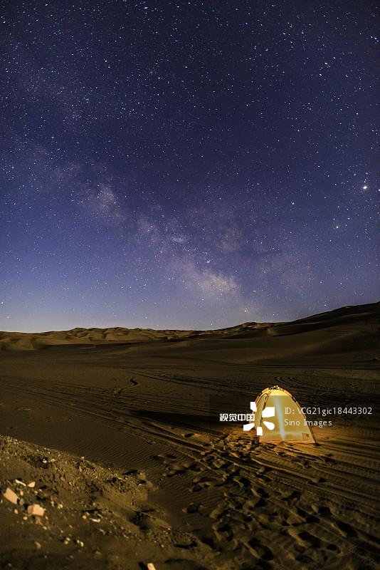 吐鲁番 无人 星空 银河系 帐篷 著名景点 露营 风光 风景 旅游目的地