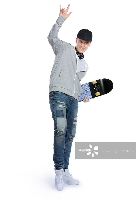 休闲 黑发 人物 亚洲人 滑板 男人 微笑 职业 东亚 仅成年人 亚洲 笑