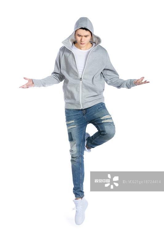 发 面部扭曲 人物 嘻哈 男人 动态动作 青年男人 中国人 信心 舞蹈 职业