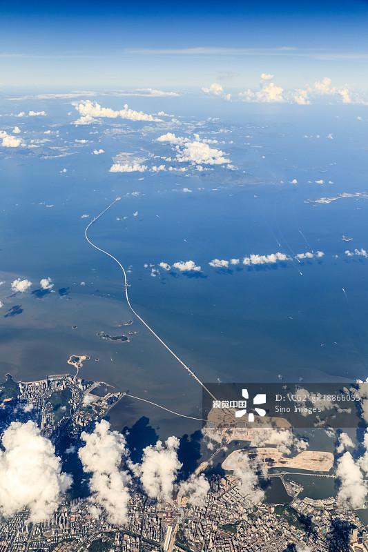 浪 建造 桥 港珠澳大桥 汽车 澳门 亚洲 宁静 城市天际线 枢轴 著名景点