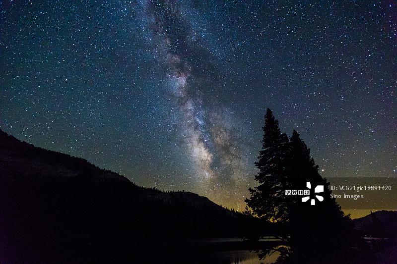 无人 天文学 星空 银河系 优胜美地国家公园 国家公园 风光 加拿大 星