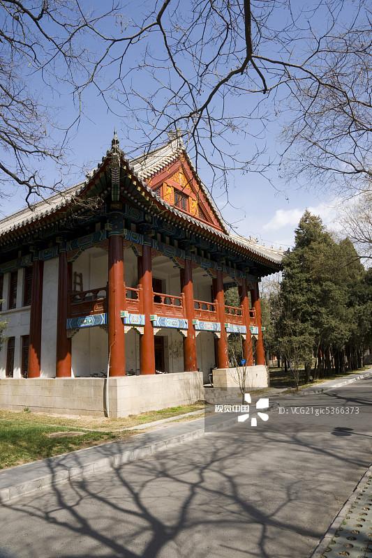 亚洲 宁静 北京大学 知识 大学 校园 户外 古典式 历史 中国元素 白昼 图片