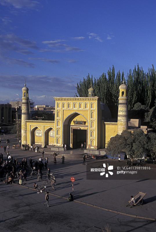 丝绸 风景 喀什 新疆维吾尔自治区 清真寺 中国 路