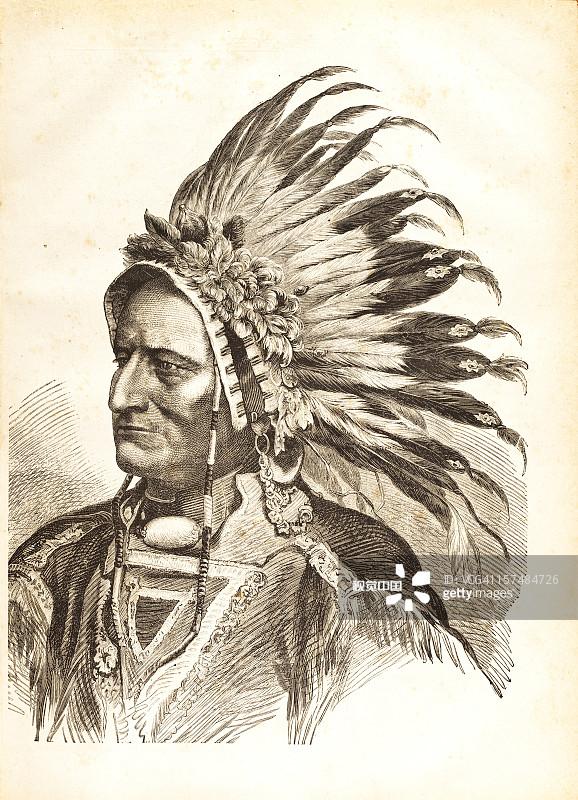 Bull 人的脸部 木版画 印刷 肖像 中老年人 仅一个男人 18世纪风格 阿