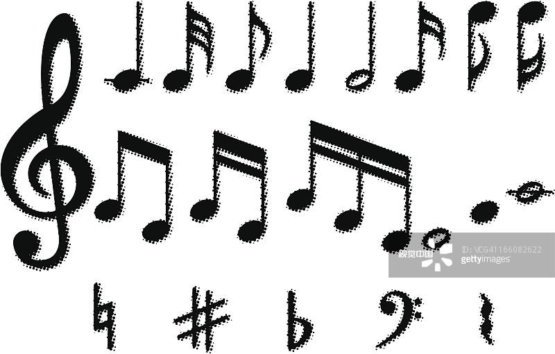 算机图标 低音谱号 高音谱号 乐谱 音乐符号 矢量 装饰 艺术文化和娱
