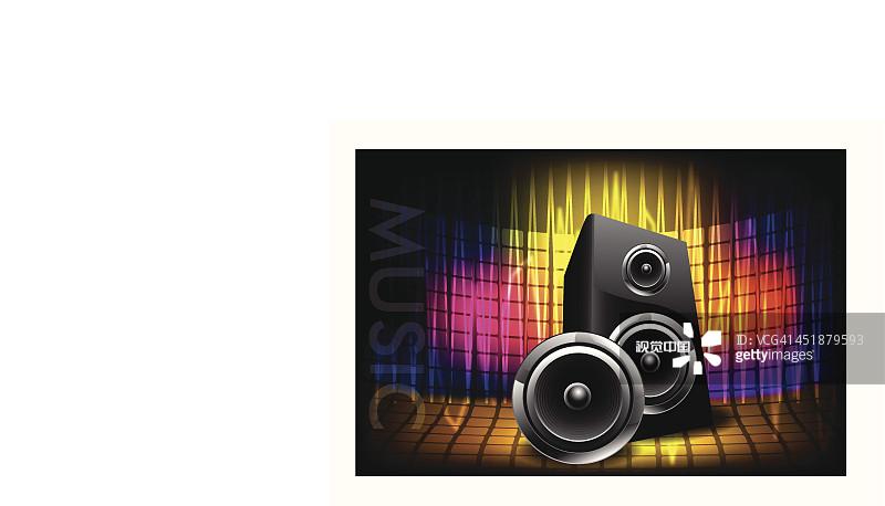 艺术 计划书 高音谱号 放音设备 构图 艺术文化和娱乐 高雅 插图画法
