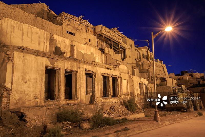 历史 夜晚 喀什 中国 传统文化 房屋