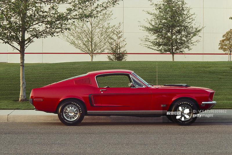 无人 街道 福特野马 闪亮的 运输 老爷车 1960年 1969年 财富 跑车 户高清图片