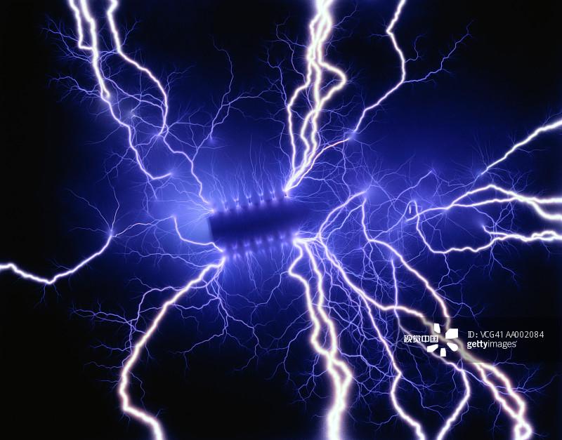 色背景 白色 电流 活力 精力 室内 一个物体 能源 计算机部件图片
