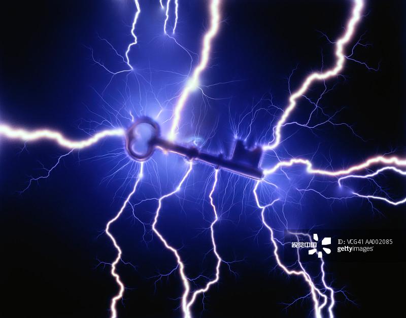 色 黑色背景 电流 室内 一个物体 能源图片