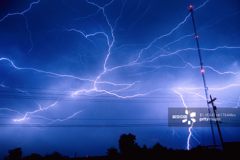 蓝色 毁灭 电流 户外 天气 雷雨 杆 暴风雨 自然 能源 夜晚图片