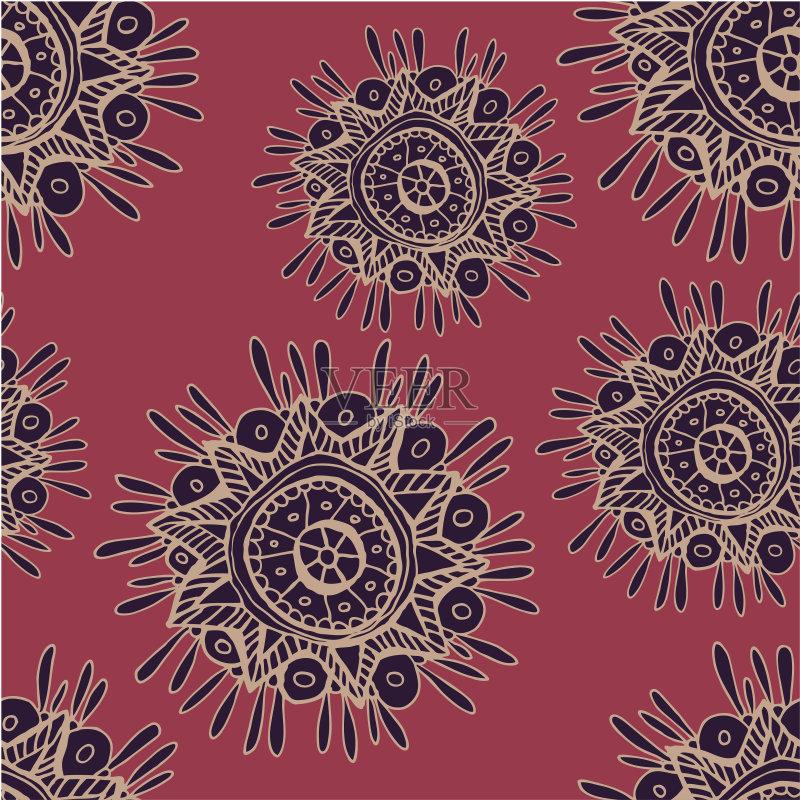 落文化 种族 装饰 草图 民间音乐 矢量 美洲土著居民 紫色 背景图片