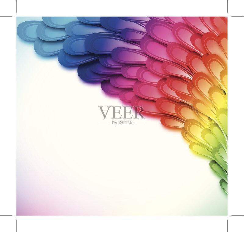 画插图 叶子 形状 荧光色 蓝色 枝 黄色 无人 镶嵌图案 花纹 粉色 铁丝
