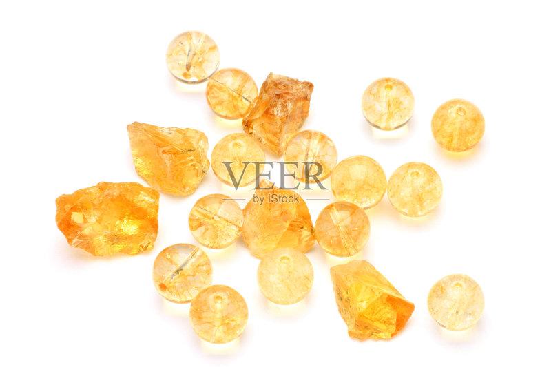 矿物质 无人 个人随身用品 半贵重宝石 石头 白色背景 石英岩 风水