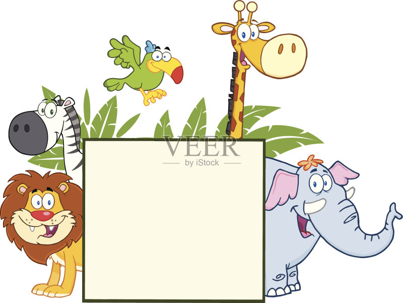 剪贴画 微笑 鸟类 性格 相框 幽默 绘画插图 布告 标志 动物 绘画艺术品
