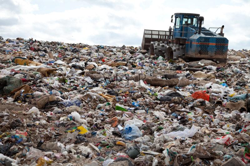 消费 环境 垃圾 拆毁的 压土机 肮脏的 垃圾场 工业 卡车 不卫生的 节