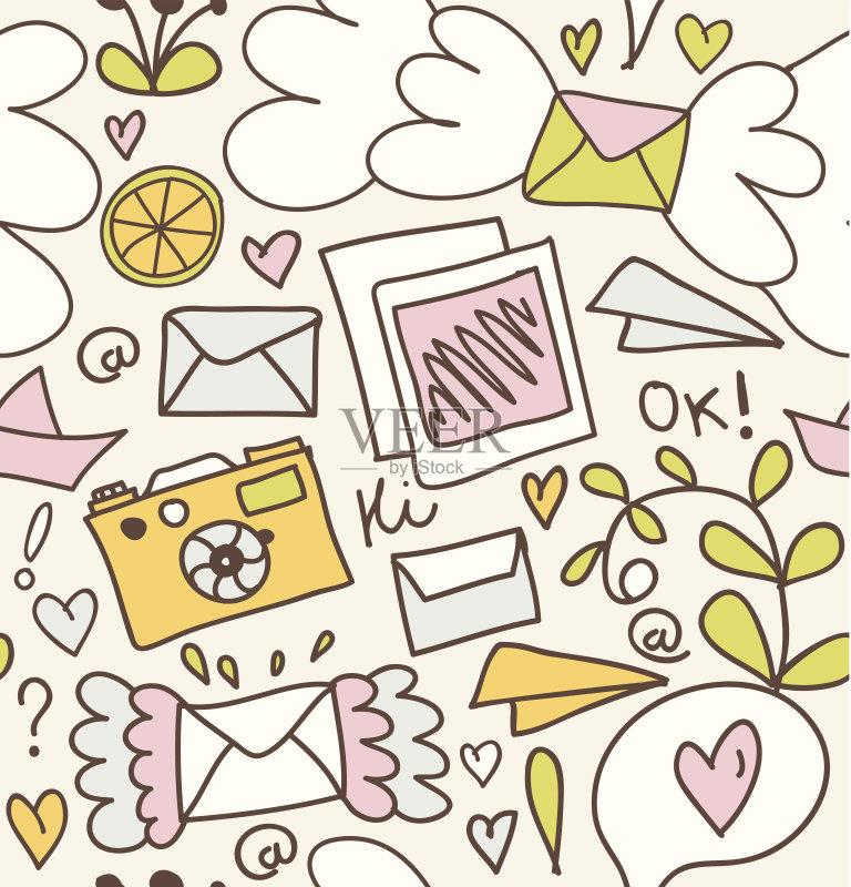画画-铅笔画 节日 信封 飞机 客船 旅行 邮件 折纸工艺 玩具 旅游 相框