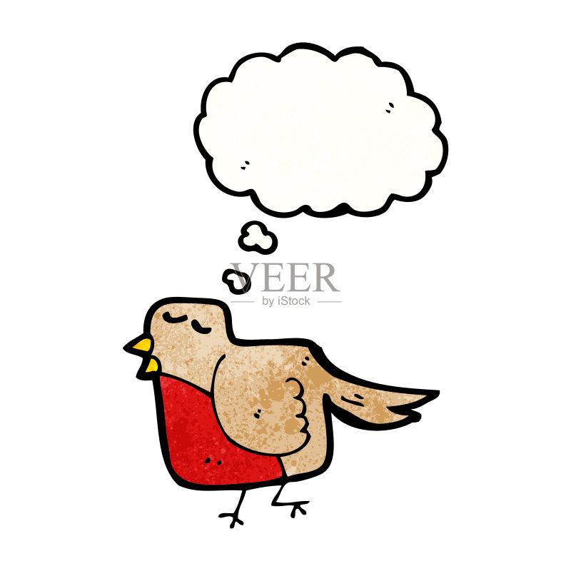 思考 可爱的 绘画插图 思想气泡框 动物 画画 快乐 乱画 奇异的 剪贴画
