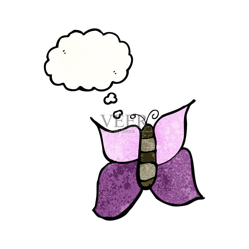 思考 可爱的 绘画插图 乱画 奇异的 剪贴画 昆虫 思想气泡框 画画