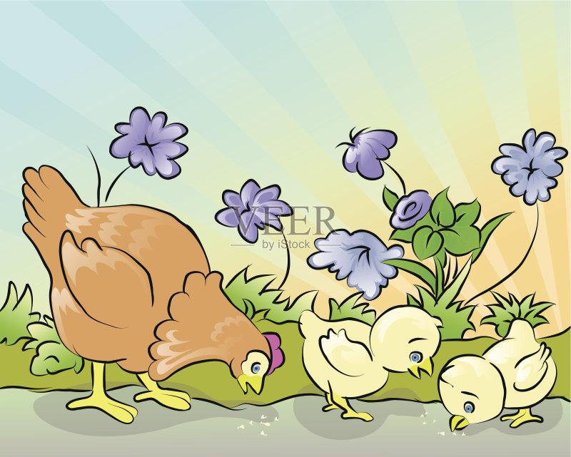 太阳 黄色 画画 儿童 食品 装饰 复活节 华丽的 季节 计算机制图 卵 剪