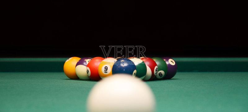 赌博 球袋 台球 球体 圆形 桌子图片