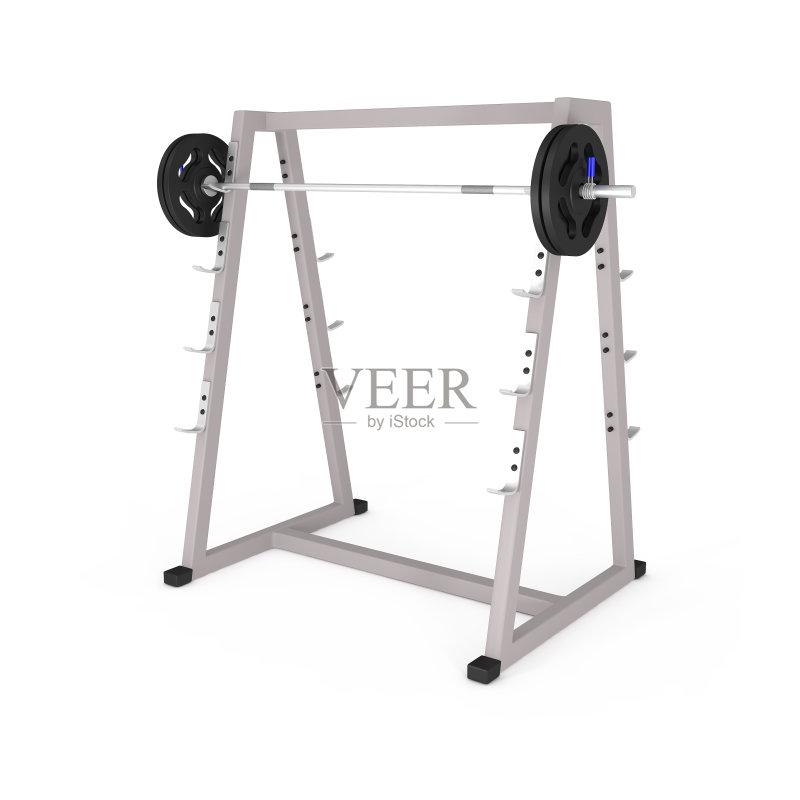 健身器械 金属 杠铃 组物体 背景图片