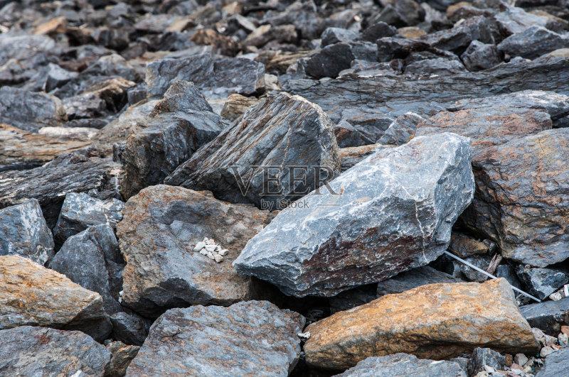巨石 自然 石灰石 沙子 大理石 鹅卵石 无人 工业 沙砾 岩石 堆 质量