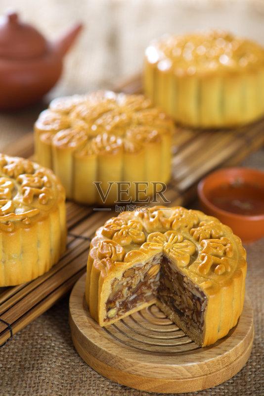 国文化 褐色 月饼 庆祝