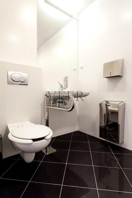 水盆 室内 厕所 现代 时尚 豪华酒店 卫生 房地产 华贵 暗色 住宅房间 图片