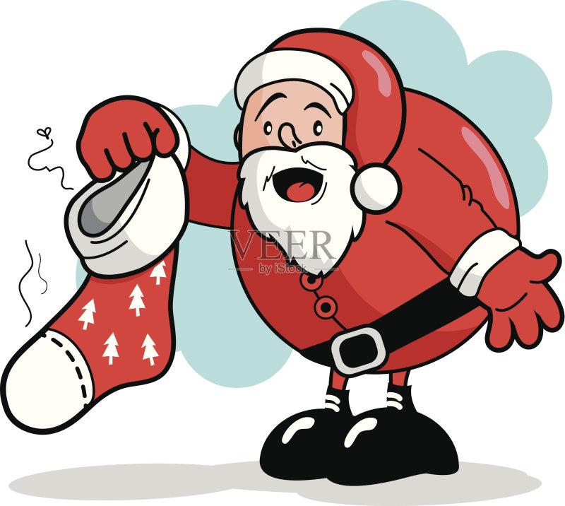 子 季节 闻 剪贴画 圣诞节 性格 幽默 惊奇 绘画插图 乐趣 拿着 人体 矢