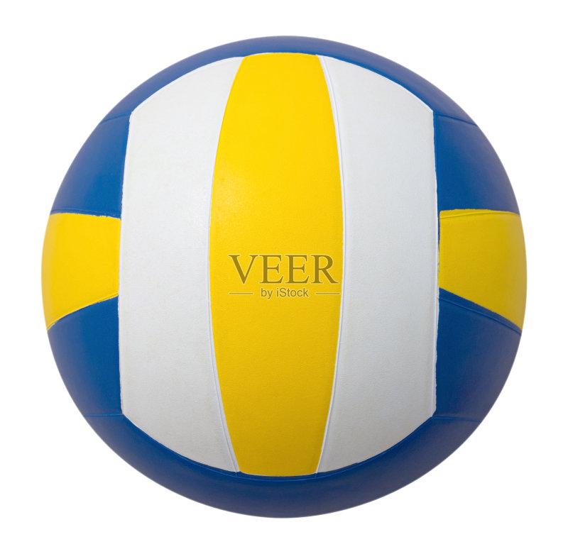 人 剪贴路径 排球 白色背景 蓝色 类似篮球的球赛 黄色