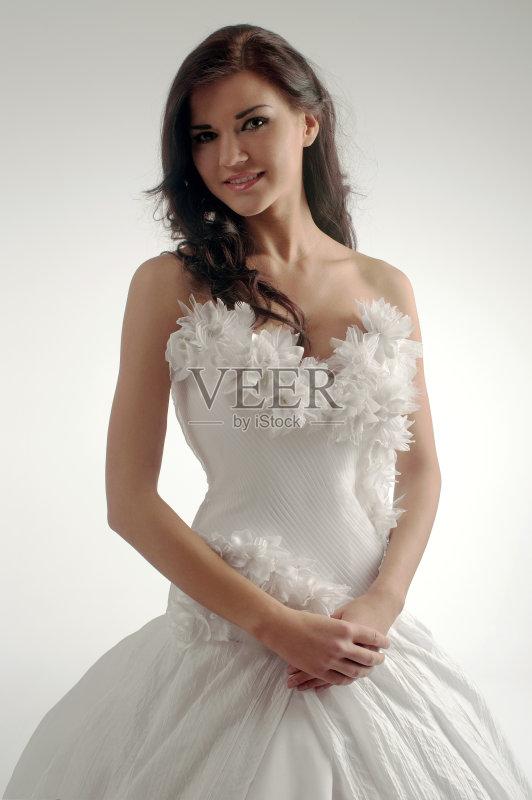 玫瑰 现代 新娘 时尚 可爱的 性感 华贵 美 一个人 影棚拍摄 魅力 欲望 图片