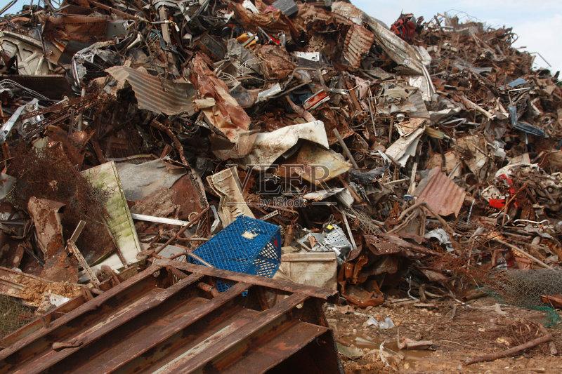 掉的 生锈的 垃圾 被抛弃的 过时的 循环利用 垃圾场 无人 工业 污染