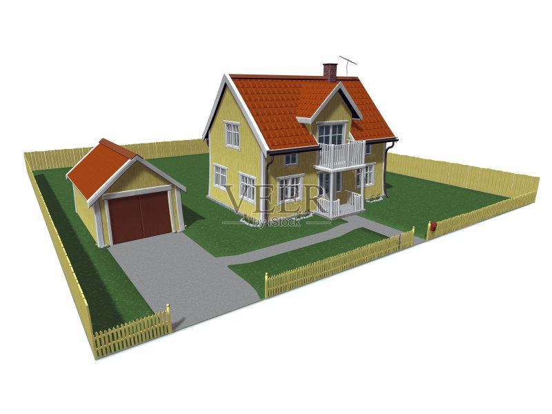 模型-设计 信息符号 建筑结构 想法 假日别墅 住宅内部 概念和主题 窗户