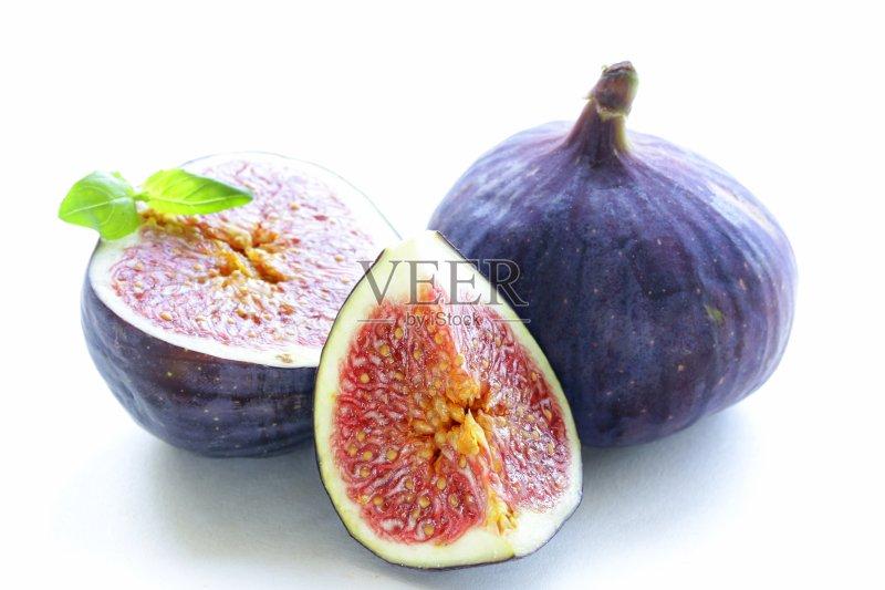 自然 无花果 无人 熟的 份量 食品 生食 切片食物 清新 紫色 组物体 背