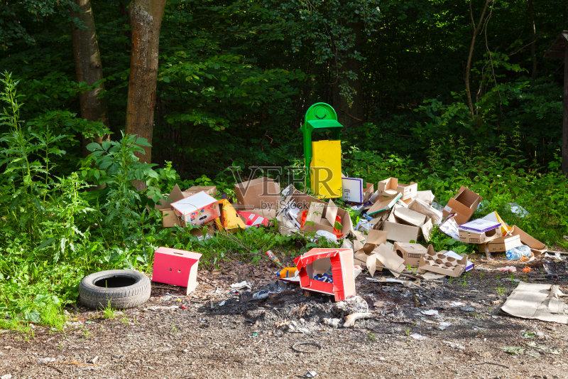 瓶子 叶子 垃圾 凌乱 垃圾填埋场 容器 肮脏的 自然 垃圾场 环境问题