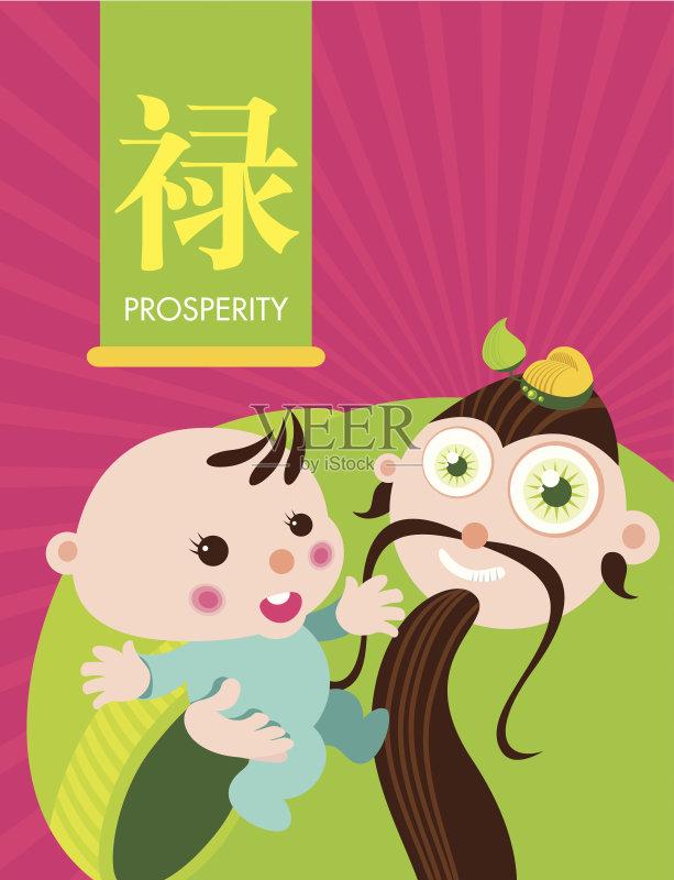 字 问候 神 祝福 儿童 东亚文化 瓷器 中国 财富 漩涡形 微笑 性格 特色图片
