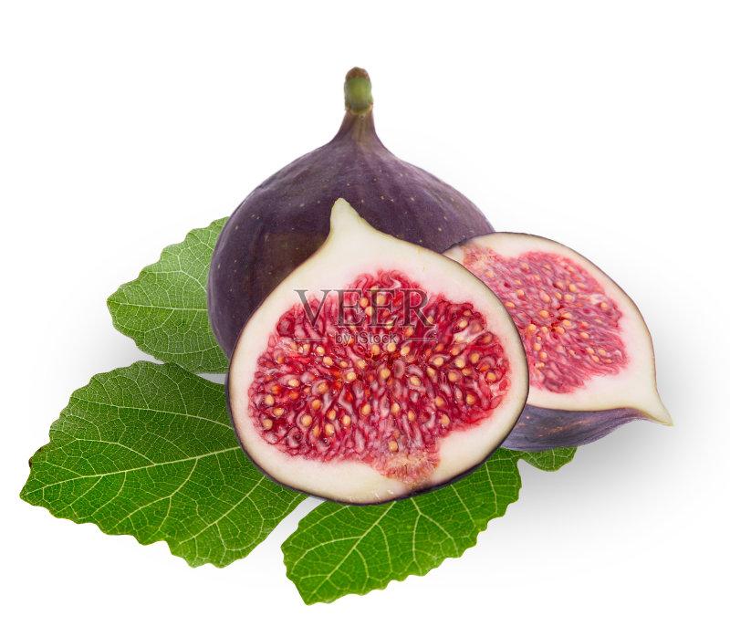 食 白色背景 无花果 维生素 熟的 相伴 份量 食品 切片食物 紫色 水果