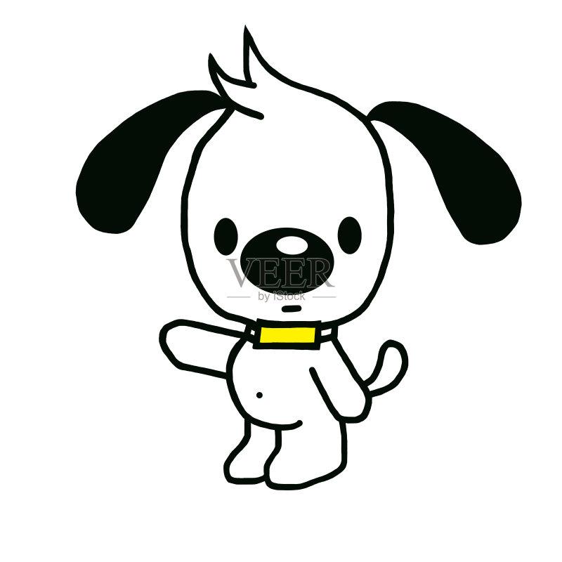 卡通狗-十二月 节日 白色 冬天 卡通 蝴蝶结 礼物 季节 圣诞节 微笑 背景