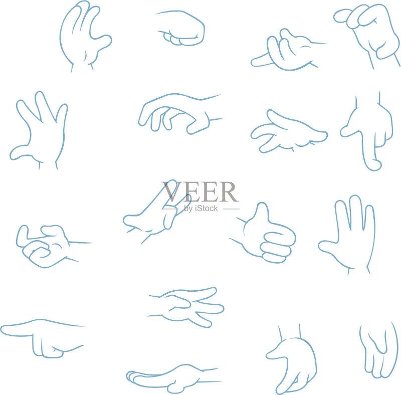 草图-左撇子 人 一个物体 食指 卡通 指着 肖像 拳头 手 悲哀 四肢 与众不