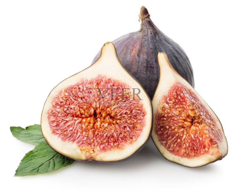 食 白色背景 无花果 维生素 熟的 份量 食品 生活方式 挨着 切片食物