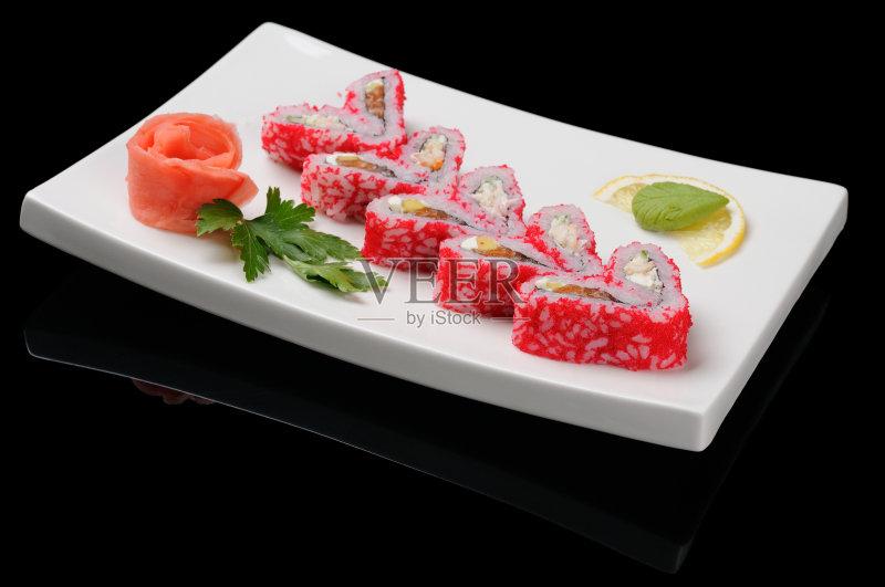 美味食品 日本料理 晚餐 美味 午餐 无人 爱 米 开胃品 芥末酱 盘子 日