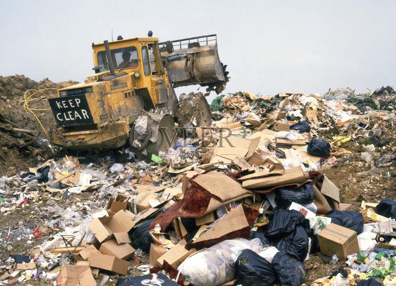 环境 移开 垃圾 职业 黄色 垃圾场 工业 压土机 工作 非都市风光 农业