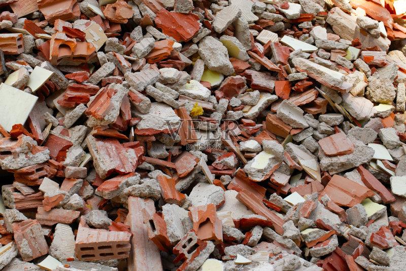 筑结构 材料 垃圾 建筑业 红色 被抛弃的 毁坏 摇滚乐 拆毁的 垃圾场
