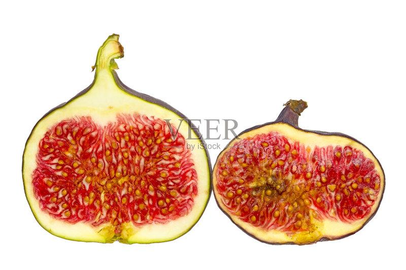 然 两个物体 无花果 无人 热带水果 素食 剪贴路径 食品 清新 紫色